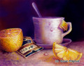 8 x 10 Tea & Lemons S533 Original Painting in Pastel by Susan Edgmon