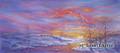 13 x 29.5 Winter Sunset S410-2/500 Original Painting in Pastel Print by Susan Edgmon
