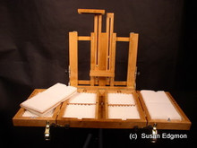 Plein air easel, studio easel/storage box