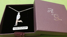 Irish Step Dancers - Male Solo Dancer Sterling Silver Pendant & Chain Complete with Gift Box.