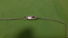 Irish Step Dancers - Male & Female Sterling Silver lobster clasp with sterling silver rolo chain.