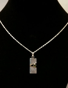Pierodot Linen Textured Sterling Silver Necklace - New Grange Front view.