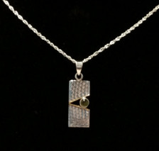 Pierodot Linen Textured Sterling Silver Necklace - New Grange