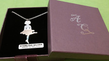 Irish Step Dancer - Solo Female Hard Shoe Sterling Silver Pendant & Chain gift box included.