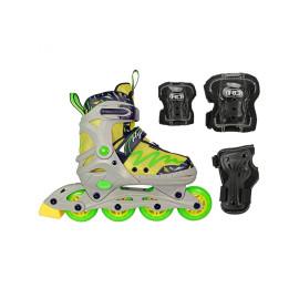 Lenexa Lemon Twist Adjustable Inline Skates Combo