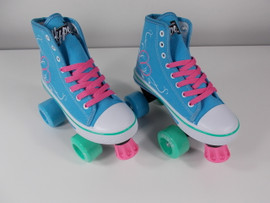 **SLIGHTLY USED** Hype Pixie Kids Roller Skate Teal Size 1