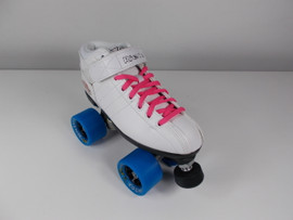 **CLOSEOUT** Riedell White R3 Cosmic Roller Skates