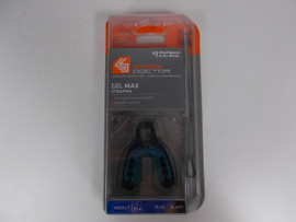 **CLOSEOUT** Shock Doctor Gel Max Mouth Guard w/ Strap Black/Blue