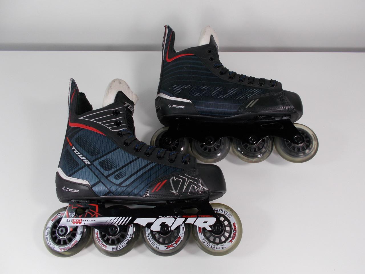 Used Hockey Skates >> Slightly Used Tour Fishbone 225 Senior Hockey Skate Size 6