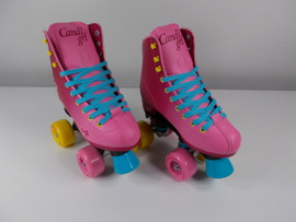 **SLIGHTLY USED** Candi Girl Sabina Indoor / Outdoor Skates Pink/Blue Size 4