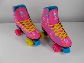 **SLIGHTLY USED** Epic Blush Quad Roller Skate Size 7