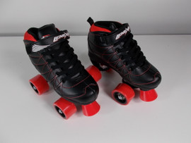 **CLOSEOUT** Lenexa Hoopla - Kids Roller Skate Black and Red Size 2