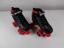 **SLIGHTLY USED** Lenexa Hoopla - Kids Roller Skate Black and Red Size 3