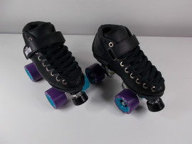 **SLIGHTLY USED** Vanilla Renegade Skate Size 4 with Backspin Beastmode Purple and Blue Wheels