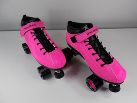 **SLIGHTLY USED** Riedell Dart Quad Speed Roller Skate Pink Size 13