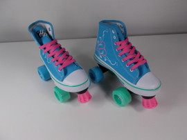 **SLIGHTLY USED** Hype Pixie Kids Roller Skate Teal Size 3