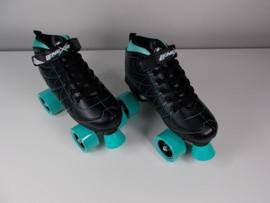 **SLIGHTLY USED** Lenexa Hoopla - Kids Roller Skate Black and Teal Size 5