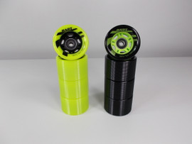 **CLOSEOUT** Riedell Dart Ombre Black and Green Wheels with Bearings