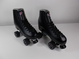 **SLIGHTLY USED** Sure-Grip Competitor Fame Roller Skate Black Size 9