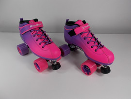 **SLIGHTLY USED** Riedell Dart Ombre Pink/Purple Roller Skate Size 9
