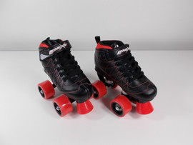 **SLIGHTLY USED** Lenexa Hoopla - Kids Roller Skate Black and Red Size J13