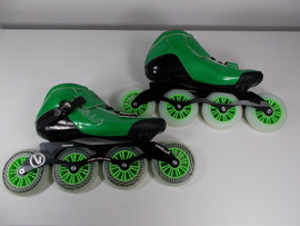 **SLIGHTLY USED** Vanilla Carbon Speed Inline Skate Green Size 11