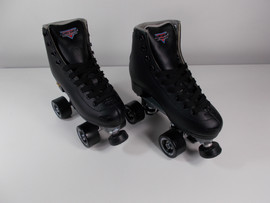 **SLIGHTLY USED** Sure-Grip Fame Indoor Roller Skate Black Size 6
