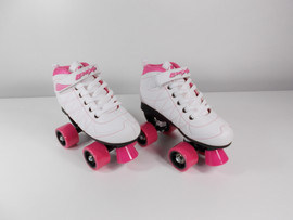 **SLIGHTLY USED** Lenexa Hoopla - Kids Roller Skate White and Pink Size 4