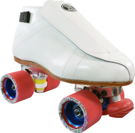 **CLOSEOUT** White Riedell 395 PowerTrac Shaman Speed Skates