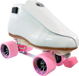 **CLOSEOUT** White Riedell 395 Sunlite Cosmic Roller Skates
