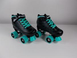 **SLIGHTLY USED** Lenexa Hoopla - Kids Roller Skate Black and Teal Size 3