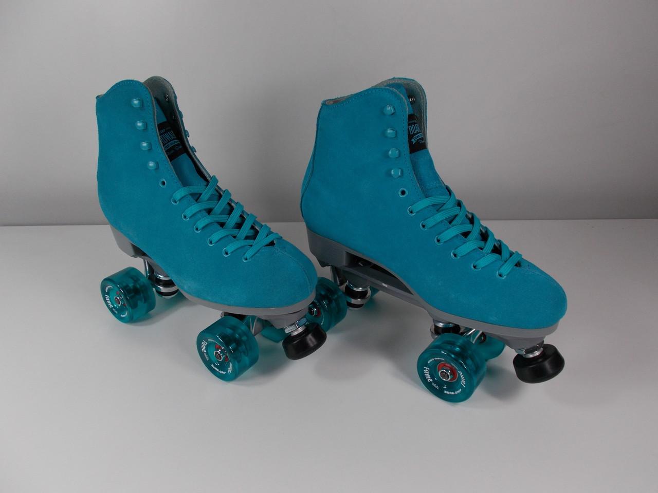 Roller Skates On Sales Rollerskatenation Com >> Slightly Used Sure Grip Blue Boardwalk Indoor Roller Skate Size 8