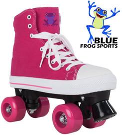 Blue Frog Roller Skates