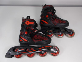 **CLOSEOUT** PSI Black and Red Adjustable Inline Skate Sizes J13 through 3