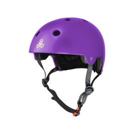 Triple 8 Dual Certified Brainsaver Purple Glossy Helmet