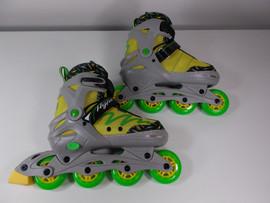 ***SLIGHTLY USED** Lemon Twist Adjustable Inline Skate Size Large Sizes 5-8