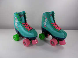 **SLIGHTLY USED** #uGOgrl Kids Quad Roller Skate Sky Blue Size 4