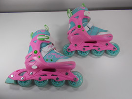 **SLIGHTLY USED*** Sherbet  Adjustable Inline Skates, Medium (Size Kids 2-5)