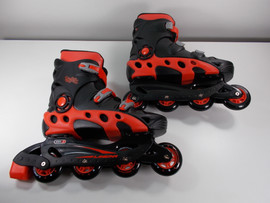 ***SLIGHTLY USED** Linear Black and Red Durango Inline Skate Size 9