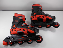 ***SLIGHTLY USED** Linear Black and Red Durango Inline Skate Size 13