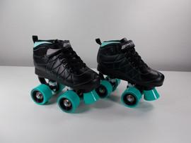 **SLIGHTLY USED*** Lenexa Hoopla - Kids Roller Skate Black and Teal Size 1