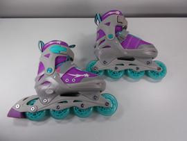 **SLIGHTLY USED** Lenexa Athena Adjustable Inline Skate - Size Youth 2 - 5