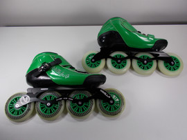 **SLIGHTLY USED** Vanilla Carbon Green  Speed Inline Skate - Size 10