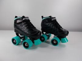 **SLIGHTLY USED** Lenexa Hoopla - Kids Roller Skate Black and Teal Size J13