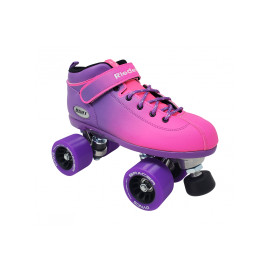 Riedell Dart Pink/Purple Ombre Outdoor Roller Skates
