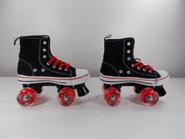 **SLIGHTLY USED*** MVP Quad Roller Skate Black and Red Size 5