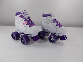 **SLIGHTLY USED** Pacer Charger 2.0 Kids White Roller Skate Size J11