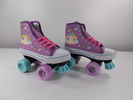 **SLIGHTLY USED** Pixie Unicorn Purple Kids Roller Skate Size 1