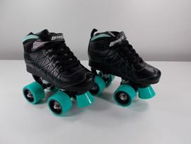 ***SLIGHTLY USED*** Lenexa Hoopla - Kids Roller Skate Black and Teal - Youth Size 1