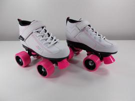 **SLIGHTLY USED** GTX-500 White Quad Roller Skate - Youth Size 3